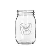 Butler Bulldogs 16 oz. Deep Etched Old Fashion Drinking Jar