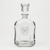 Butler Bulldogs Deep Etched Whiskey Decanter