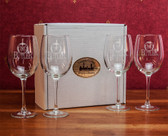 Butler Bulldogs Deep Etched White Wine Glass Set of 4