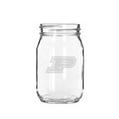 Purdue Boilermakers 16 oz. Deep Etched Old Fashion Drinking Jar