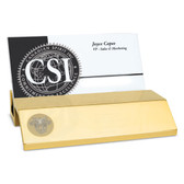 West Point Gold Business Card Holder