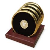 Embry-Riddle Aeronautical University Gold Tone Coaster Set of 4