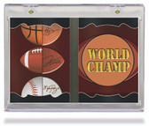 All Sports All Teams Vertical 2-Panel Ultra Pro Card Holder with Stand  Clear