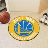 """Golden State Warriors 2017 NBA Champions Basketball Mat 27"""" diameter"""
