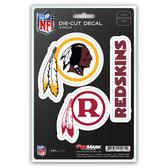 Washington Redskins Decal Die Cut Team 3 Pack