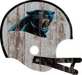 Carolina Panthers  Sign - Large Wood Helmet