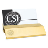Louisiana Lafayette Ragin Cajuns Gold Business Card Holder