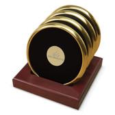 UNC Charlotte 49ers Gold Tone Coaster Set of 4