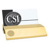 Rice University Gold Business Card Holder