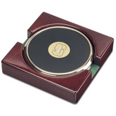 Stanford Cardinal Gold Tone Coaster Set of 2