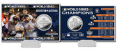 """Houston Astros 2017 World Series Champions """"Celebration"""" Silver Coin Card"""