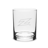 Akron Zips Deep Etched 14 oz. Double Old Fashion Glass