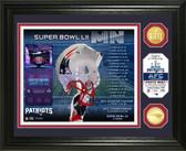 New England Patriots Super Bowl 52 Team Pride Bronze Coin Photo Mint