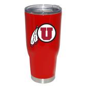 Utah Utes 32oz Decal Powder Coated Stainless Steel Tumbler
