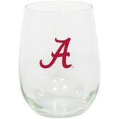 Alabama Crimson Tide 15oz Decorated Stemless Wine Glass