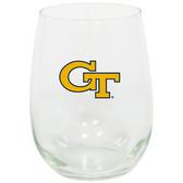 Georgia Tech Yellow Jackets 15oz Decorated Stemless Wine Glass