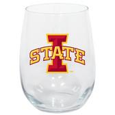 Iowa State Cyclones 15oz Decorated Stemless Wine Glass