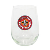 Louisiana Lafayette Ragin Cajuns 15oz Decorated Stemless Wine Glass