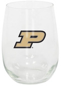Purdue Boilermakers 15oz Decorated Stemless Wine Glass