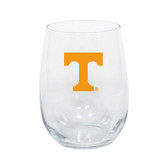 Tennessee Volunteers 15oz Decorated Stemless Wine Glass