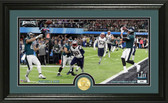 """Nick Foles """"4th and 1"""" TD Catch silver coin Photo Mint"""