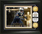 Marshon Lattimore 2017 NFL Defensive Rookie of the Year Bronze Coin Photo Mint