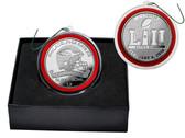 Philadelphia Eagles Super Bowl 52 Champions Silver Mint Coin Ornament