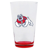 Fresno State Bulldogs 16oz Highlight Pint Glass
