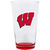 Wisconsin Badgers 16oz Highlight Pint Glass