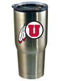 Utah Utes 22oz Decal Stainless Steel Tumbler