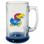 Kansas Jayhawks 15 oz Highlight Decal Glass Stein