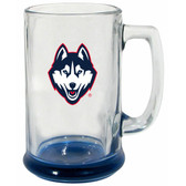 Connecticut Huskies 15 oz Highlight Decal Glass Stein