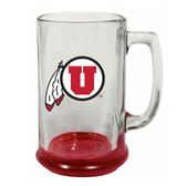 Utah Utes 15 oz Highlight Decal Glass Stein