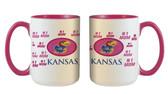 Kansas Jayhawks 15oz Mom Mug