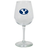 Brigham Young Cougars 12.75oz Decal Wine Glass