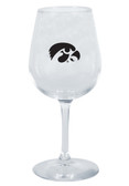 Iowa Hawkeyes 12.75oz Decal Wine Glass