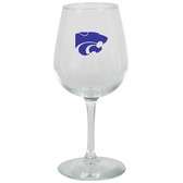 Kent State 12.75oz Decal Wine Glass