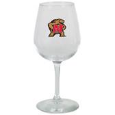 Maryland Terrapins 12.75oz Decal Wine Glass