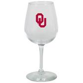 Oklahoma Sooners 12.75oz Decal Wine Glass