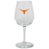 Texas Longhorns 12.75oz Decal Wine Glass