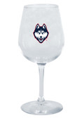 Connecticut Huskies 12.75oz Decal Wine Glass