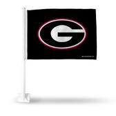 Georgia Bulldogs 'G' on Black Car Flag