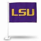 """LSU Tigers """"LSU Tigers LOGO"""" Car Flag (PURPLE)"""