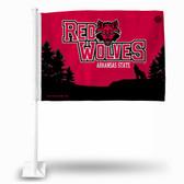 Arkansas State Red Wolves Car Flag
