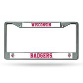 Wisconsin Badgers  Chrome Frame