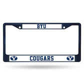 BYU Cougars NAVY COLORED Chrome Frame