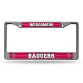 Wisconsin Badgers  Bling Chrome Frame