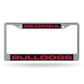 Georgia Bulldogs  LASER Chrome Frame