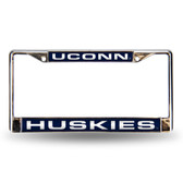 UCONN Huskies BLUE LASER Chrome Frame
