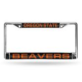 Oregon Ducks  STATE LASER Chrome Frame BLACK INSERT